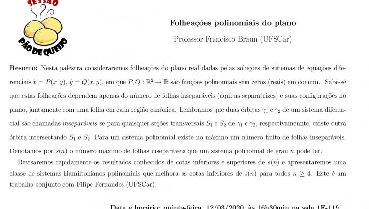 Palestra Folheações polinomiais do plano